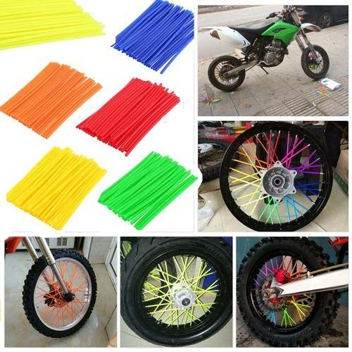 [AUSTRALIA] - 72pcs Motorcycle Spoke Covers,for 450 SUZUKI Honda 250 XT225 XT600 TW200 KLR650 Motocross Wheel Spoke Skin (red,)