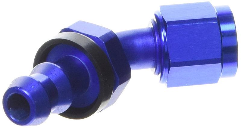 [AUSTRALIA] - Russell 624080 Twist-Lok Red/Blue Anodized Aluminum -6AN 45-Degree Hose End