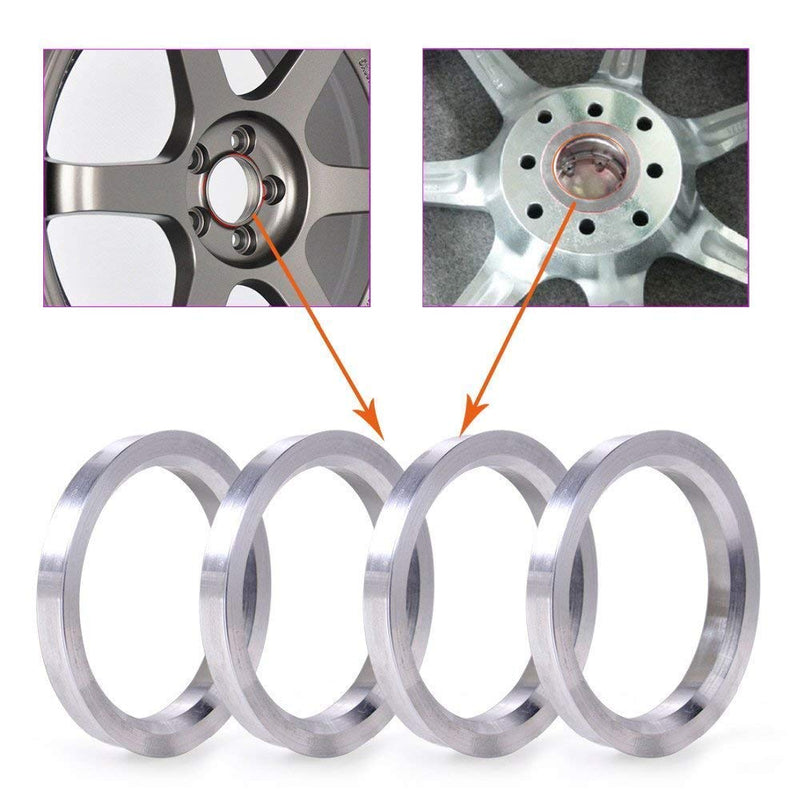 [AUSTRALIA] - ZHTEAPR 4pc Wheel Hub Centric Rings 108 to 106 - OD=108mm ID=106mm - Aluminium Alloy Wheel Hubrings for Most Toyota Tundra 4Runner FJ Cruiser Sequoia