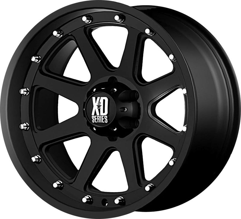 [AUSTRALIA] - KMC XD Series 796 797 798 Matte Flat Black 6 Lug Wheel Rim Center Cap 1079L145 S708-06 ABS