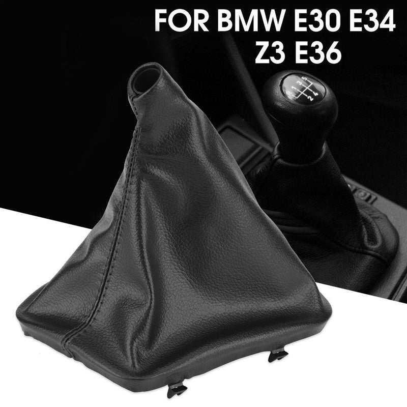 [AUSTRALIA] - Car Gear Shift Knob Boot, Manual/Auto Gear Shifter Gaiter Dust Boot Cover Replacement for BMW E34 E36 E46 Z3
