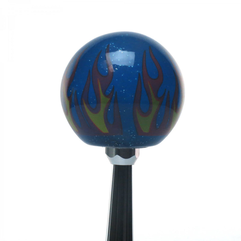 [AUSTRALIA] - American Shifter 298642 Shift Knob (Orange Thug Life Blue Flame Metal Flake with M16 x 1.5 Insert)