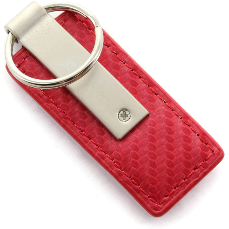 [AUSTRALIA] - Toyota Tacoma Red Carbon Fiber Leather Logo Key Chain