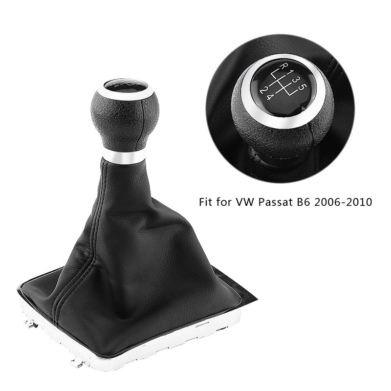[AUSTRALIA] - Keenso 5 Speed Car Gear Shift Knob Gearstick Gaiter Boot Frame Kit Dustproof Cover for VW Passat B6 2006-2010