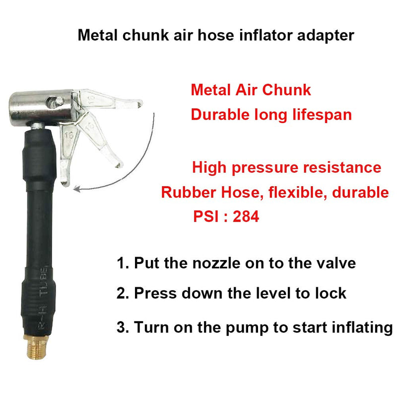 [AUSTRALIA] - Melphan-Auto 2PCs Air Inflator Hose Adapter Convert Twist On Connection to Lock On Connection, Locking Air Chuck with Air Hose and Standard Tire Valve Fine Thread 2pcs metal inflator adapter