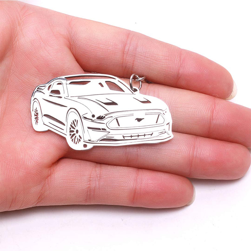 [AUSTRALIA] - 304 Stainless Steel 3D Keychain Key Chain for Ford Mustang Accessories Custom Performance Muscle Car Keyring Parts