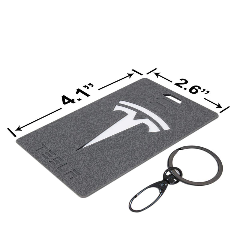 [AUSTRALIA] - Coolsport Car Sales Key Card Holder for Tesla Model 3 Silicone Protector Cover Key Card Keychain (Gray) Gray
