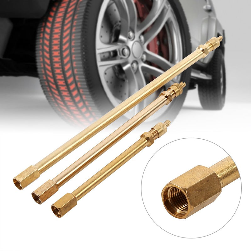 [AUSTRALIA] - Keenso Brass Auto Tire Valve Extension Adaptor Air Tyre Stem Extender Inflation Stright Bore for Motorcycle, Bike, Mower and Scooter(100mm) 100mm