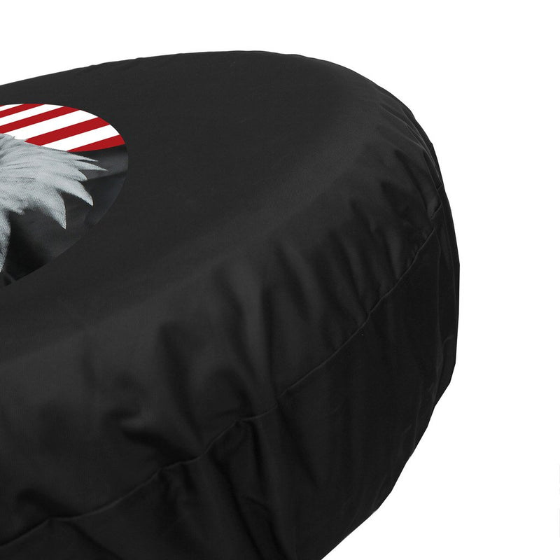 "[AUSTRALIA] - Moonet American Flag Eagle Head Spare Tire Wheel Cover Car Truck SUV Camper Fits Jeep CRV FJ Hummer Land Rover Outlander Grand Vitara R15 M 235/65R17 255/65R16 215/70R16 (Diameter:79cm/31.1inch) Half American Flag Eagle 15inch for diameter 27""-29"""