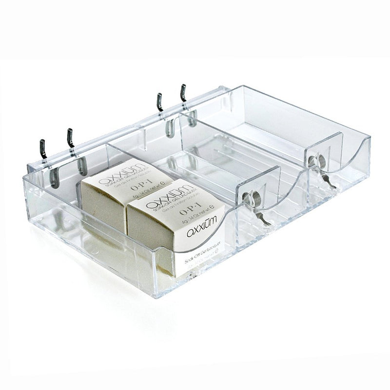 "[AUSTRALIA] - Azar Displays 225504 9.125"" W x 5.8125"" D x 1.5"" H 3-Compartment Pusher Tray (2 Pack)"