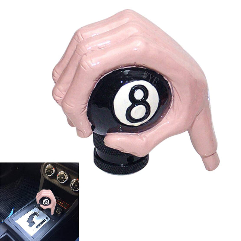 [AUSTRALIA] - WYF Universal Shift Knob Ghost Claw Hand Skull Gear Stick Black 8 Ball Shifter Knob for Most Manual or Automatic Gear Without Button (Light Pink) Light pink