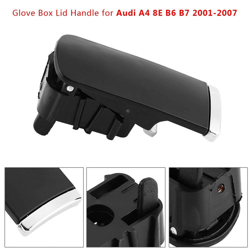 [AUSTRALIA] - Left-Hand Glove Box Lid, Black ABS Glovebox Lid Glove Box Lid Handle for Handle Grip Spring Replacement