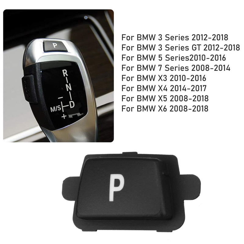 [AUSTRALIA] - Jaronx for BMW Gear Shift P Button,Gear Shift Knob Lever Parking Button Cover Replacement for BMW 3 Series F30/F31/F34, 5 SeriesF10/F11, 7 Series F01/F02, X3 F25, X4 F26, X5 E70/F15, X6 E71/F16 P Button for F Chassis Code