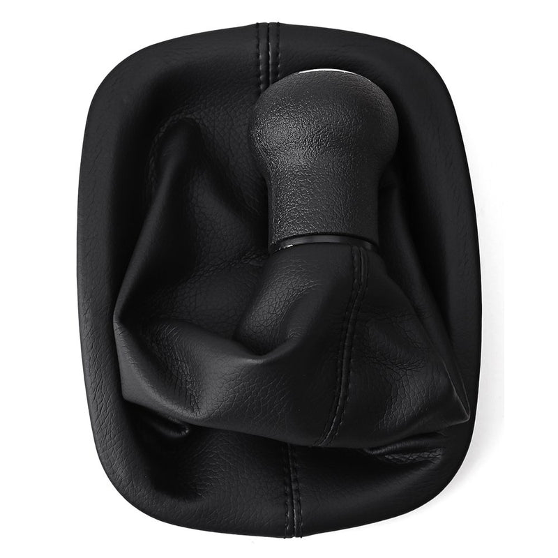 [AUSTRALIA] - New 5 Speed Leather Shifter Gear Shift Knob Gaitor Gaiters Boot for VW Passat B5 B5.5 1997-2006 Black