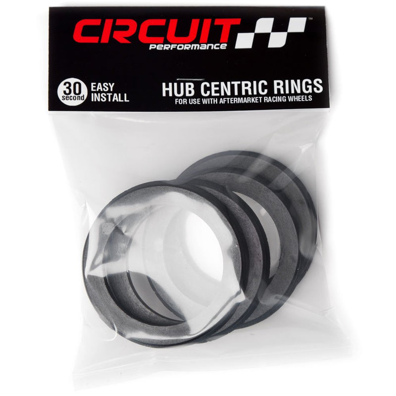[AUSTRALIA] - Circuit Performance 72.56mm OD to 56.1mm ID Black Plastic Polycarbonate Hub Centric Rings