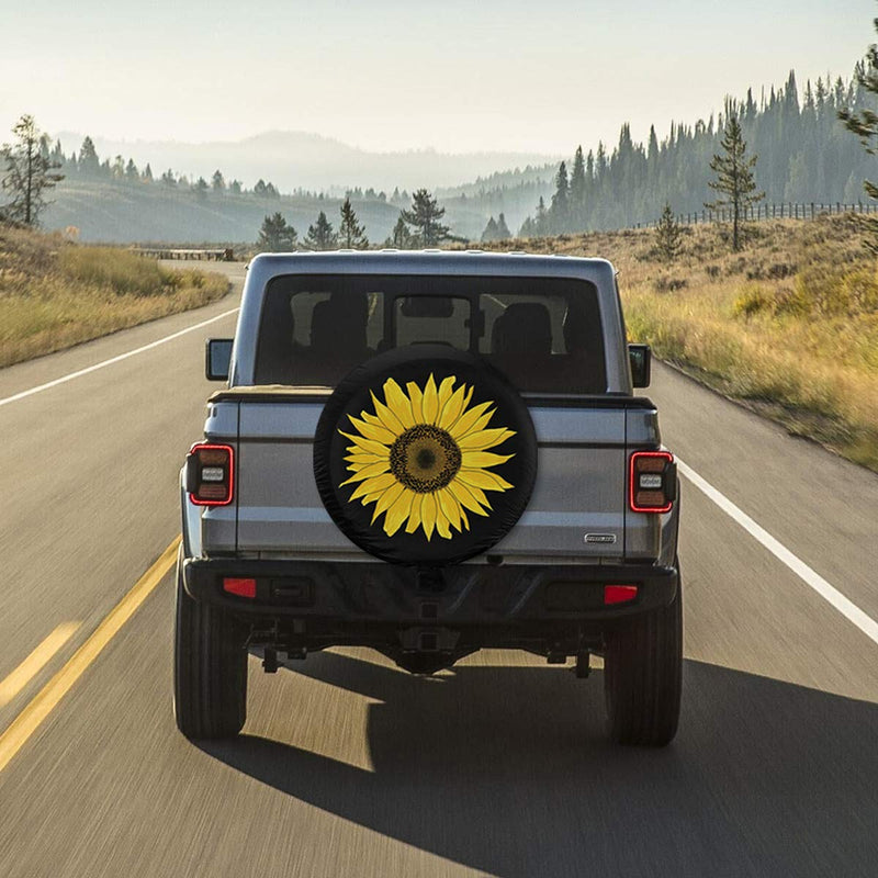 "Fresquo Tire Covers Sunflower Spare Tire Cover Sun Protector Waterproof Wheel Cover Universal Fit for Jeep, Trailer, RV, SUV, Truck and Many Vehicle 15 inch for Wheel Diameter 27"" - 29"" - LeoForward Australia"