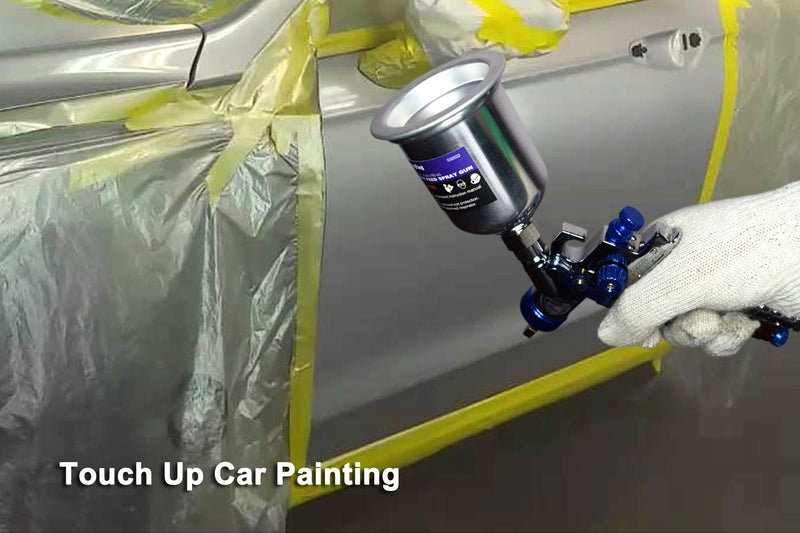 [AUSTRALIA] - Dynastus Touch Up 4.2 oz HVLP Air Spray Gun Auto Car Detail Paint Sprayer Spot Repair, with Protective Kits Aluminum