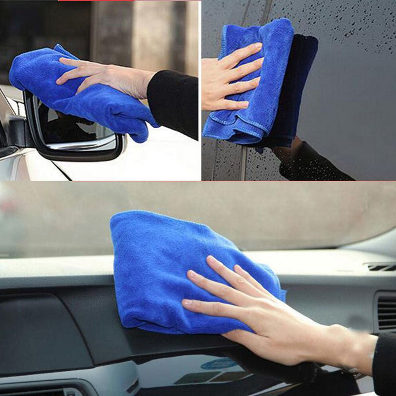 MRCARTOOL 10PCS Portable Wash Clean Kit With Wash Mitt Duster Wheel Brush Vent Brush Wash Sponge Chamois Cloth Wash Cloth Folding Bucket Automotive Cleaning Kits - LeoForward Australia