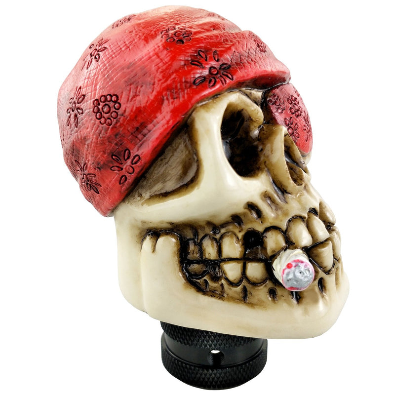 [AUSTRALIA] - Lunsom Pirate Skull Stick Gear Knob One Eye Car Shift Transmission Head Shifter Lever Handle Fit Universal Automatic Manual Vehicle (Red) red