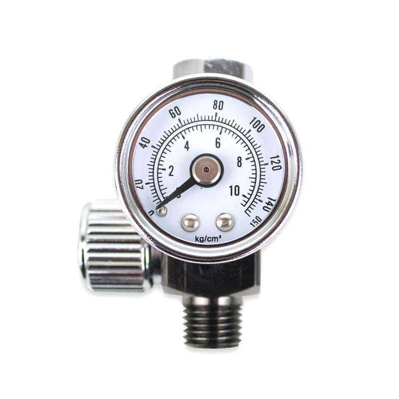 "[AUSTRALIA] - Air Adjusting Regulator Valve with Pressure Gauge for Spray Guns and Air Tools (1/4"" NPS)"