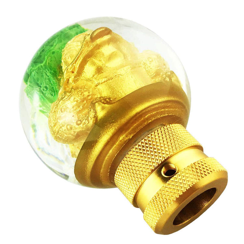 [AUSTRALIA] - Abfer Car Gear Lever Shifter Knob Universal Stick Shifting Shift Head Vegetable Shape Fit Most Manual Automatic Vehicles Truck (Gold)