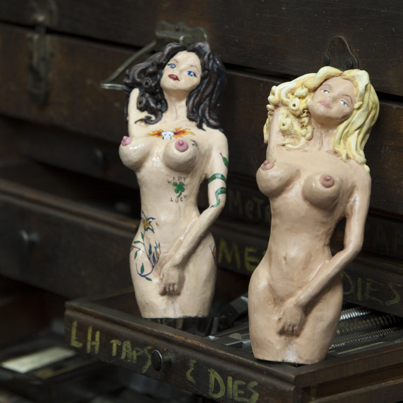 [AUSTRALIA] - American Shifter 14674 Cindy Brunette Naked Lady with Tattoos Shift Knob