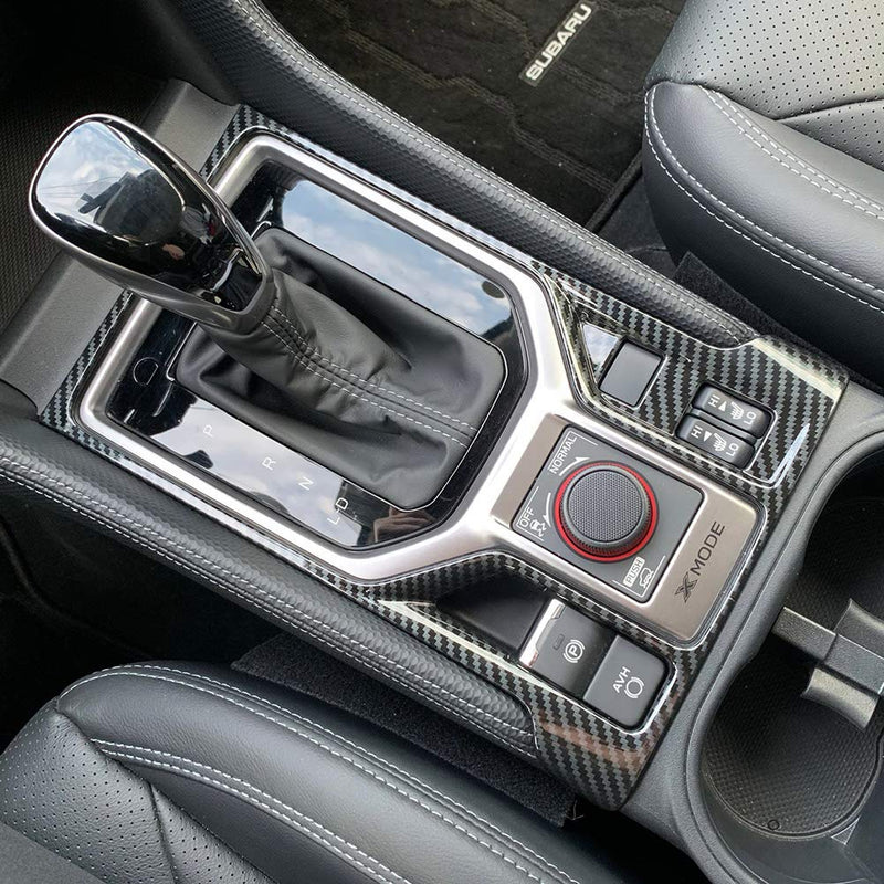 [AUSTRALIA] - Beautost Fit For Subaru 2019 2020 Forester Gear Shift Knob Console Panel Cover Trim (Outside,Carbon Fiber Pattern) Outside,Carbon Fiber Pattern