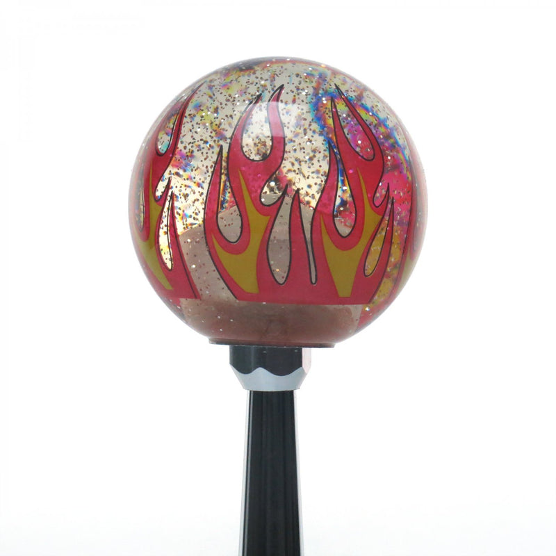[AUSTRALIA] - American Shifter 302234 Shift Knob (White YeeHa 4 Speed Clear Flame Metal Flake with M16 x 1.5 Insert)