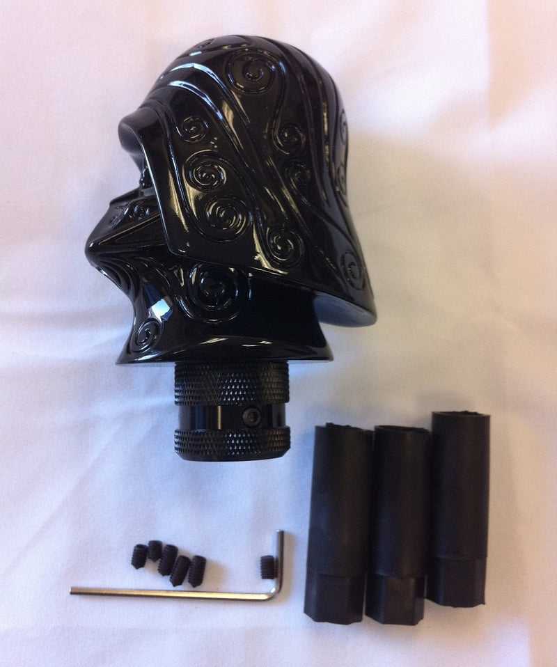 [AUSTRALIA] - Brand New Custom Starwars (Black) Darth Vader Head Stick Shift D1 Shifter Knob (Universal)