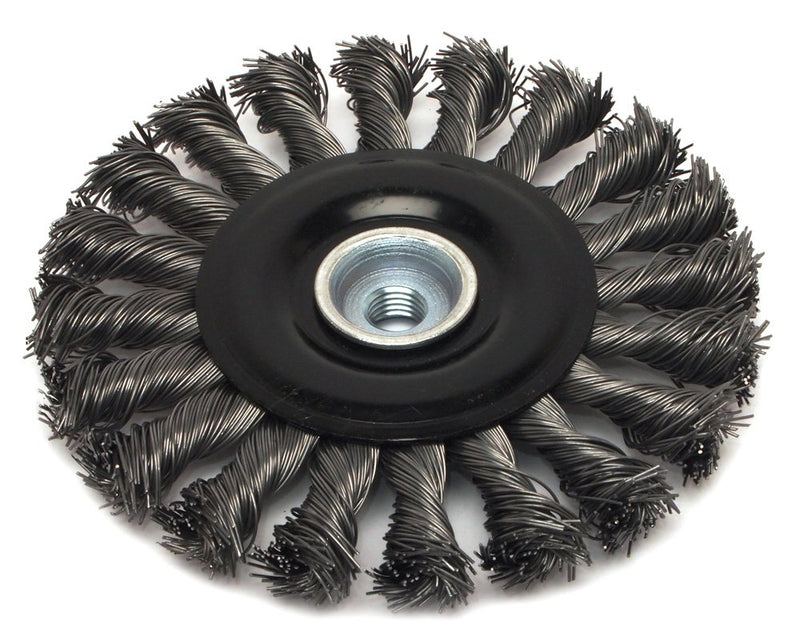 [AUSTRALIA] - Forney 72834 Wire Wheel Brush, Industrial Pro Twist Knot with M10-by-1.50/1.25 Multi Arbor, 4-1/2-Inch-by-.020-Inch