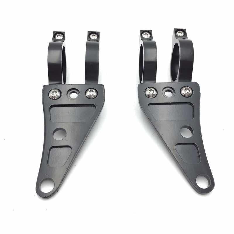 [AUSTRALIA] - HTTMT MT299-007-BK Black 35mm Turn Signal Clamps Headlight Mount Bracket Fork Ear Chopper Cafe Racer
