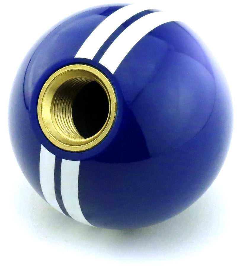 [AUSTRALIA] - American Shifter 322535 White Rally Stripe 5 Speed Pattern Blue Shift Knob with M16x1.5 Insert