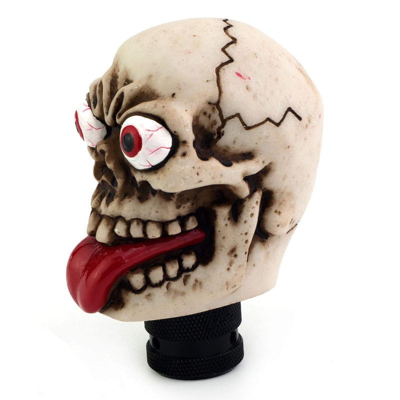 [AUSTRALIA] - Thruifo Skull Gear Car Shift Knob, Funny Style MT Stick Shifter Head Fit Most Manual Automatic Vehicles off-white