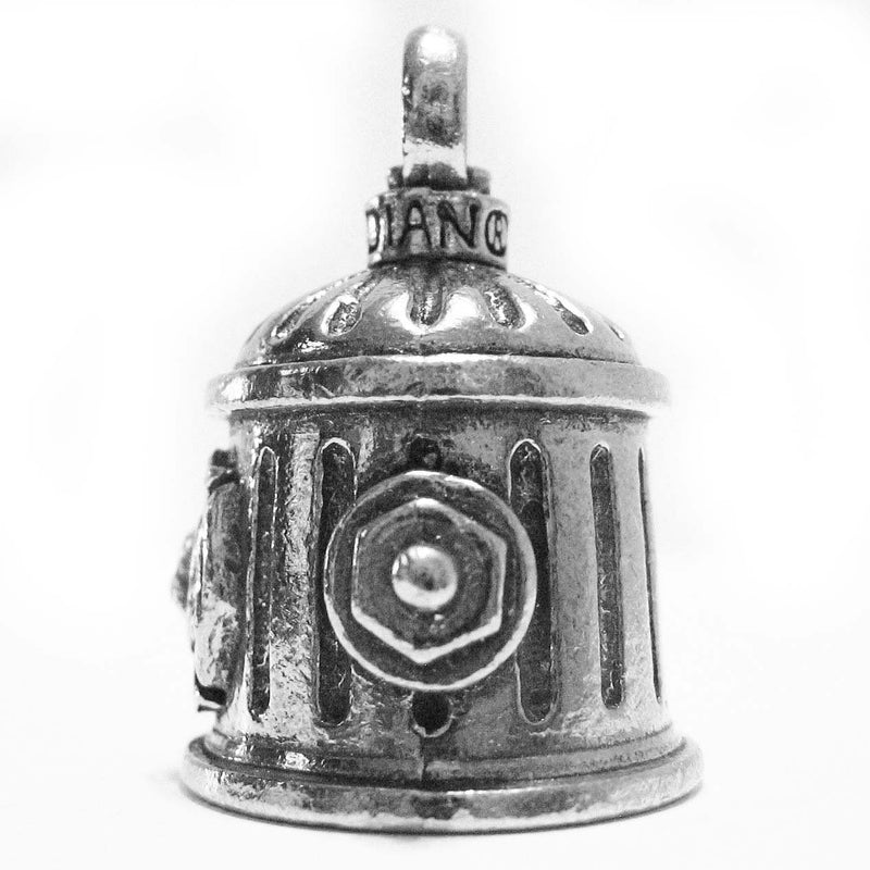 [AUSTRALIA] - Guardian Bell Guardian Firefighter Fire Hydrant Motorcycle Biker Luck Gremlin Riding Bell or Key Ring, Silver