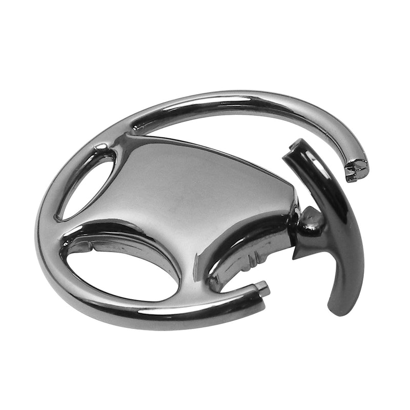 [AUSTRALIA] - Au-Tomotive Gold, INC. Jeep Renegade Black Chrome Steering Wheel Keychain
