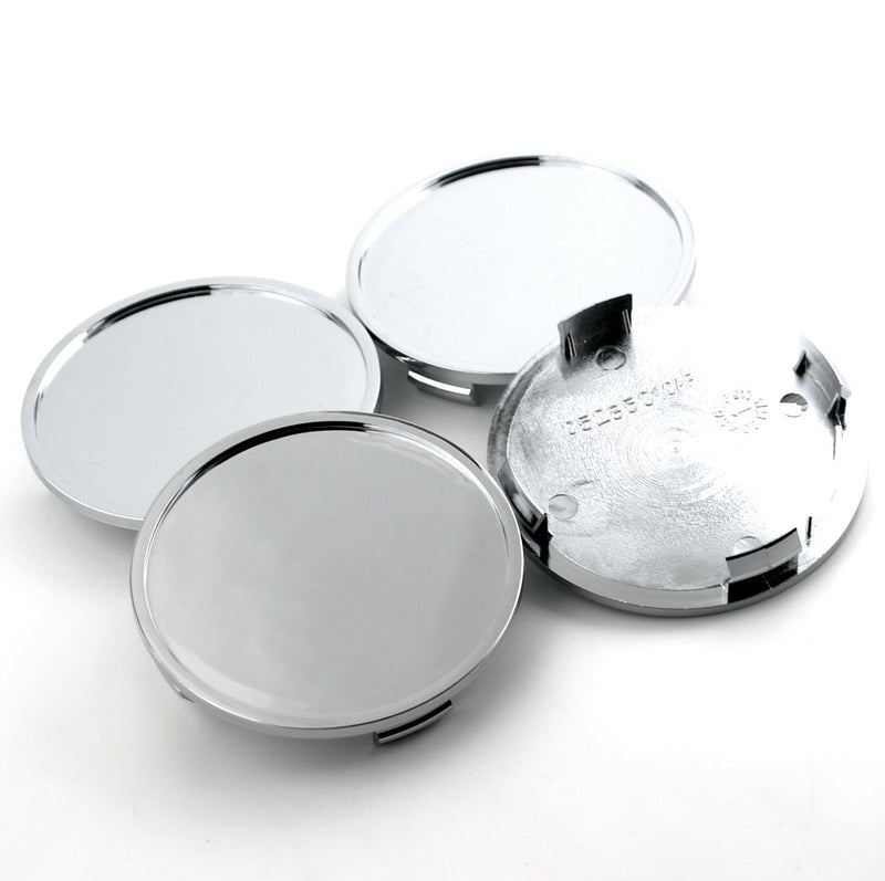 [AUSTRALIA] - 4pcs 76mm(2.99in)/72mm(2.83in) Wheel Hub Center Caps Silver ABS Base Auto Accessories Aftermarket