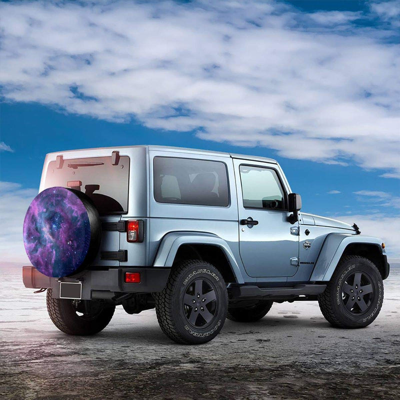 [AUSTRALIA] - Purple Galaxy Leader Accessories Spare Tire Cover,Waterproof Dust-Proof(Fit 23-32 Inches) White 17 inch