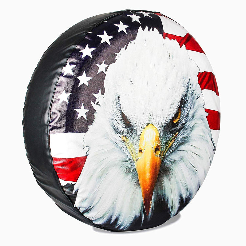 "[AUSTRALIA] - Minisoo Spare Tire Wheel Cover Car Truck SUV Camper Fits Jeep Wrangler CRV FJ RAV4 H2 H3 Land Rover Discovery EcoSport Outlander Grand Vitara (Eagle's Head, 16"" for Diameter 29""-31"") Eagle's Head 16"" for diameter 29""-31"""