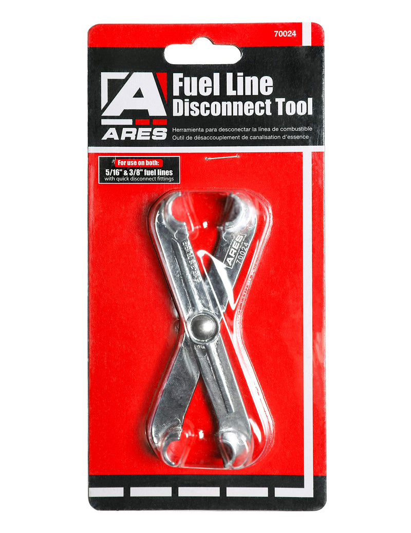 [AUSTRALIA] - ARES 70024-3/8-Inch and 5/16-Inch Scissor Fuel Line Disconnect Tool - Easy Separation of Quick Disconnect Style Fittings - Use on Fuel, Heater, and A/C Line Service on Many Late Model Vehicles