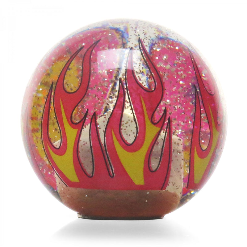 [AUSTRALIA] - American Shifter 302231 Shift Knob (Orange YeeHa 4 Speed Clear Flame Metal Flake with M16 x 1.5 Insert)