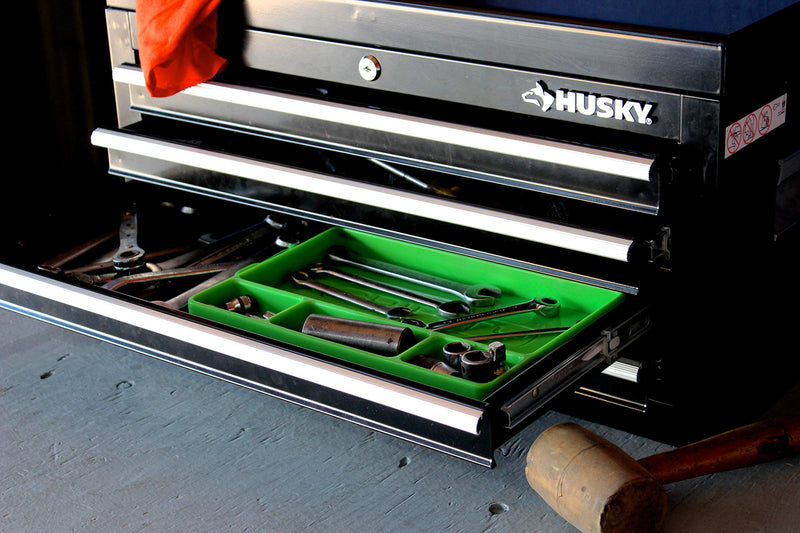 [AUSTRALIA] - Gripty | Flexible Tool Tray | Multi Purpose Mat | Portable Tool Box Organizer | No Magnets | Easy Clean Up | (Medium-Turbo Green)