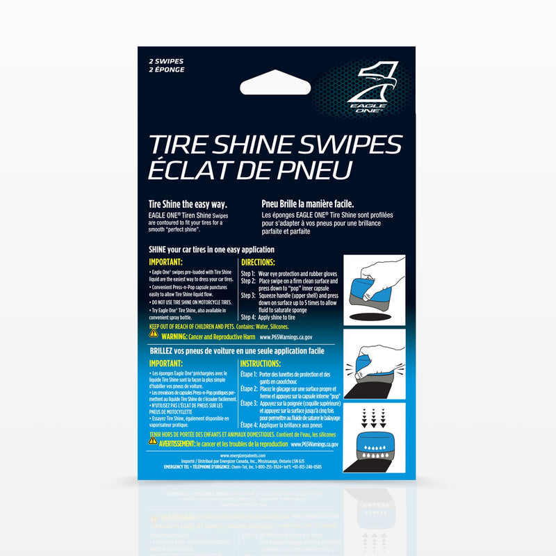 Eagle One E301345700 Tire Shine Swipes with Built-in Eagle One Tire Shine, 2 Pack - LeoForward Australia