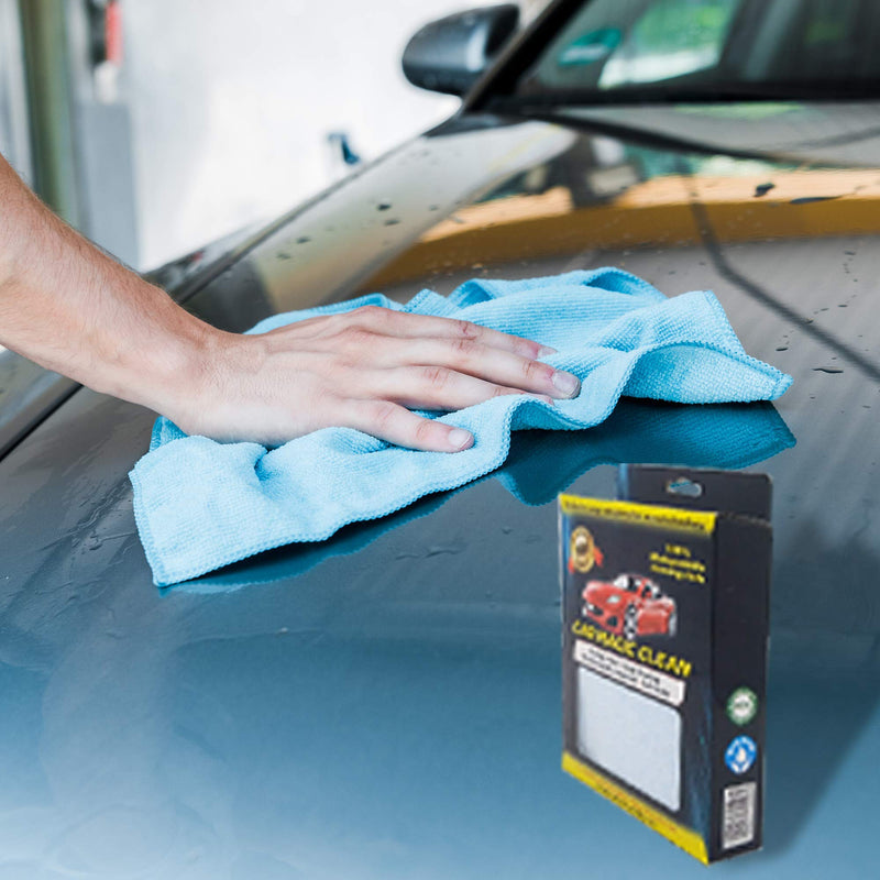 [AUSTRALIA] - Magic Clean for Car - Magic Wipes with Slow Release Soap Imbedded in the Wipe, No Additional Detergent Required Biodegradable. Each Pack Contains 6 Magic Wipes & 1 Microfiber Cloth (1 Pack) 1 Pack