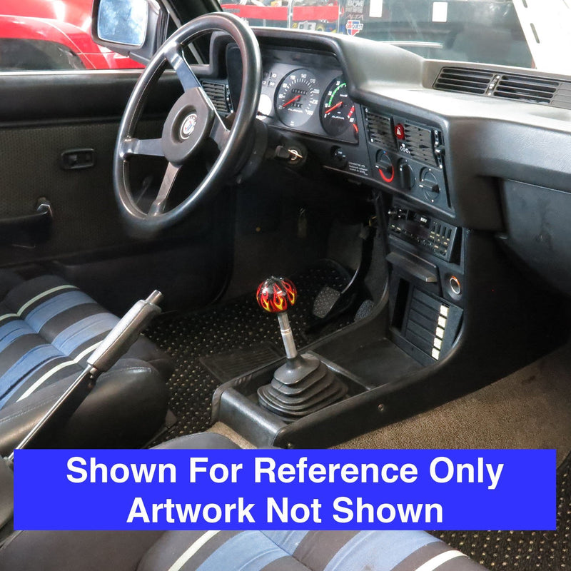 [AUSTRALIA] - American Shifter 294973 Shift Knob (Blue Garage Built Black Flame Metal Flake with M16 x 1.5 Insert)