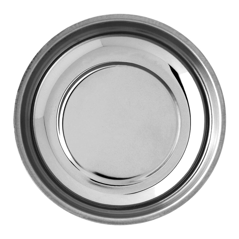 totalElement 4 1/4 Inch Round Magnetic Parts Tray, Heavy-Gauge Polished Stainless Steel with Non-Toxic Lead-Free Rubber Base (2 Pack) - LeoForward Australia