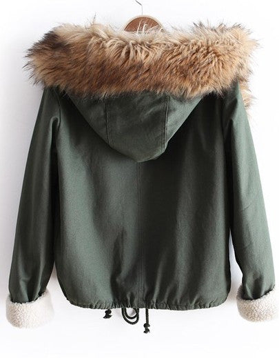 Shorti Fur Hood Parka