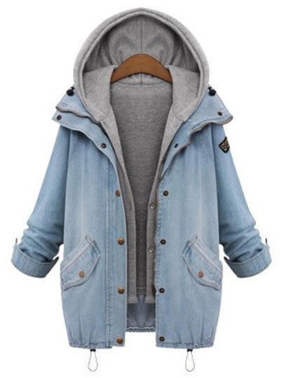 Denim Hooded Insert Jacket