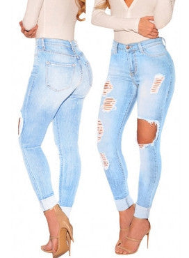 Skinny Multi Ripped Jeans