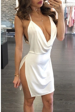 Sandi Open Back Mini Dress