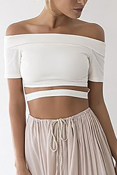Belle Bandeau Cut Out T-Shirt
